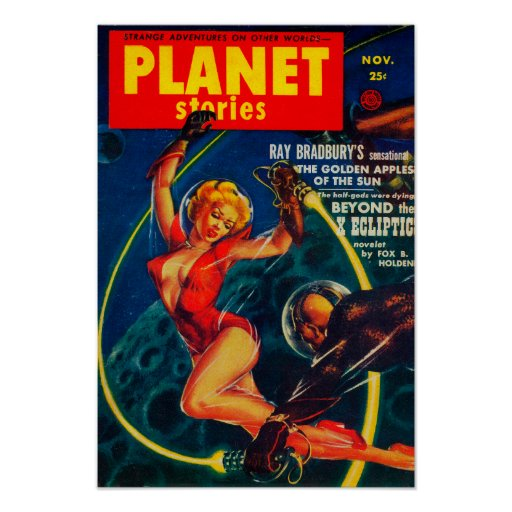 Portada de revista 2 de las historias del planeta póster