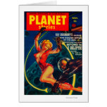 Portada de revista 2 de las historias del planeta tarjeta de felicitación