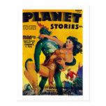 Portada de revista 4 de las historias del planeta postales