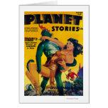 Portada de revista 4 de las historias del planeta tarjeta de felicitación