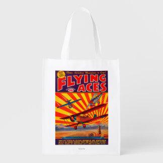 Portada de revista de los as de vuelo bolsa reutilizable