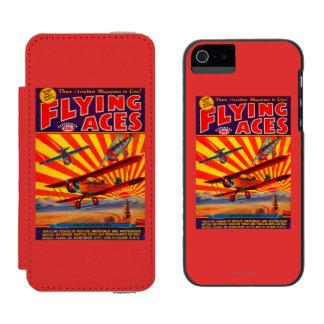 Portada de revista de los as de vuelo funda cartera para iPhone 5 watson