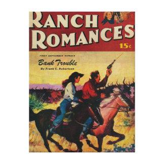 Portada de revista de los romances del rancho impresion en lona