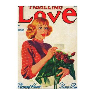 Portada de revista del amor que emociona lona estirada galerías