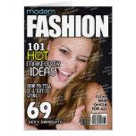 Portada de revista personalizada moda tarjetas