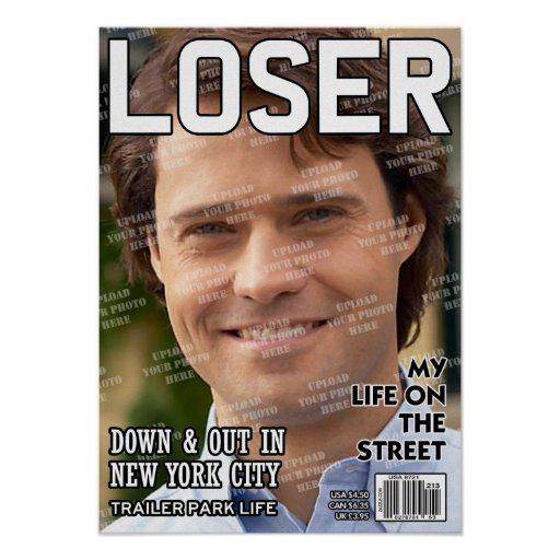 Portada de revista personalizada perdedor póster
