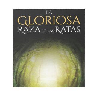 """Portada del libro """"La Gloriosa Raza de las Ratas"""" Notepad"""