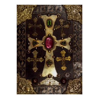 Portada del manuscrito medieval de T'oros Roslin Póster