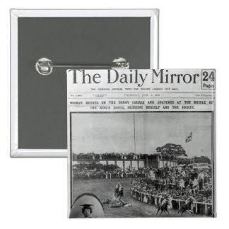 Portada 'del Mirror diario Pin Cuadrada 5 Cm