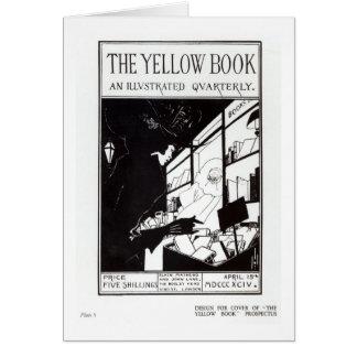 Portada del prospecto para 'el libro amarillo tarjeta de felicitación