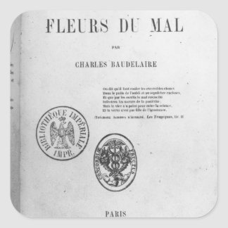 Portada, primera edición de 'Les Fleurs du Pegatina Cuadrada