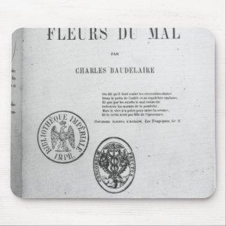 Portada, primera edición de 'Les Fleurs du Alfombrillas De Ratones