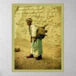 Portador de agua del ~ 1905. de Jerusalén Posters