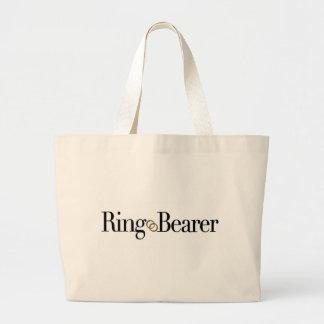 Portador de anillo bolsa tela grande