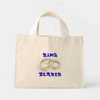 Portador de anillo bolsa tela pequeña