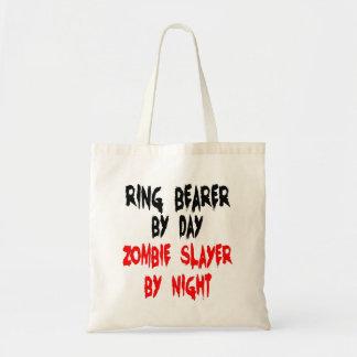 Portador de anillo del asesino del zombi bolsa tela barata