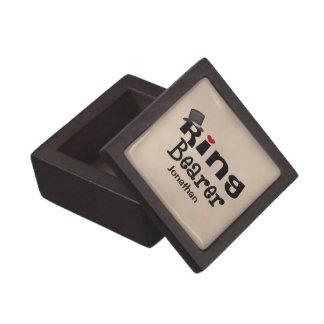 Portador de anillo del sombrero de copa caja de recuerdo de calidad