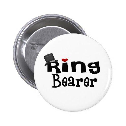 Portador de anillo del sombrero de copa pin redondo 5 cm