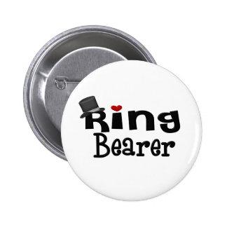 Portador de anillo del sombrero de copa pin redondo de 2 pulgadas