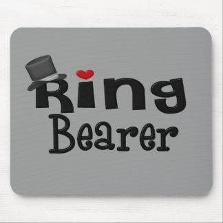 Portador de anillo del sombrero de copa tapetes de ratón