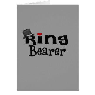 Portador de anillo del sombrero de copa tarjeta de felicitación