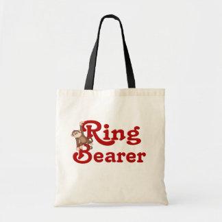 Portador de anillo divertido bolsa tela barata