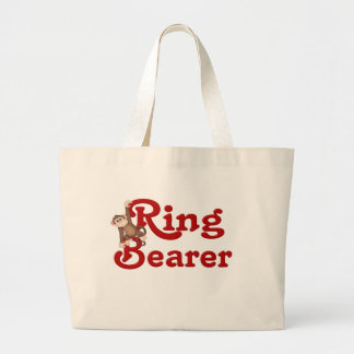 Portador de anillo divertido bolsa tela grande