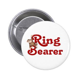 Portador de anillo divertido pin redondo de 2 pulgadas