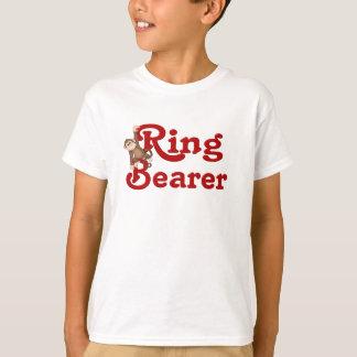 Portador de anillo divertido playera