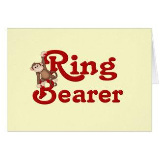 Portador de anillo divertido tarjeta de felicitación