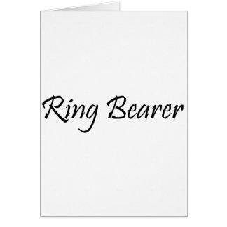 Portador de anillo felicitaciones
