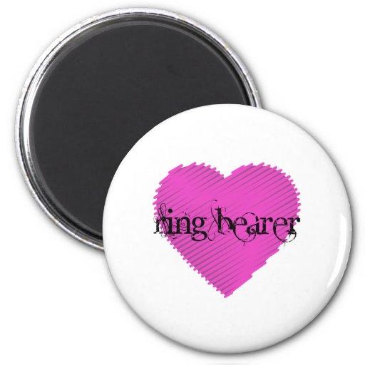 Portador de anillo imán redondo 5 cm