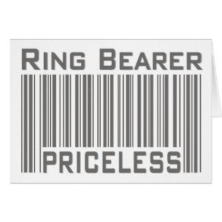 Portador de anillo inestimable tarjeta de felicitación