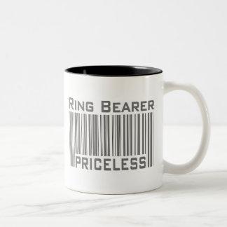 Portador de anillo inestimable taza