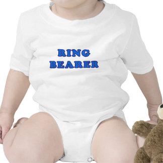 Portador de anillo traje de bebé