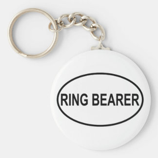 Portador de anillo que casa óvalo llaveros