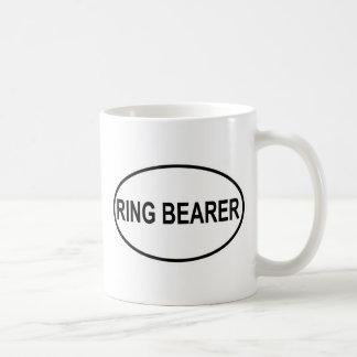 Portador de anillo que casa óvalo tazas de café