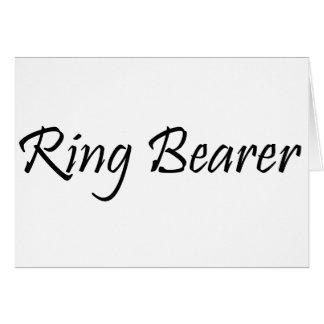 Portador de anillo tarjeta