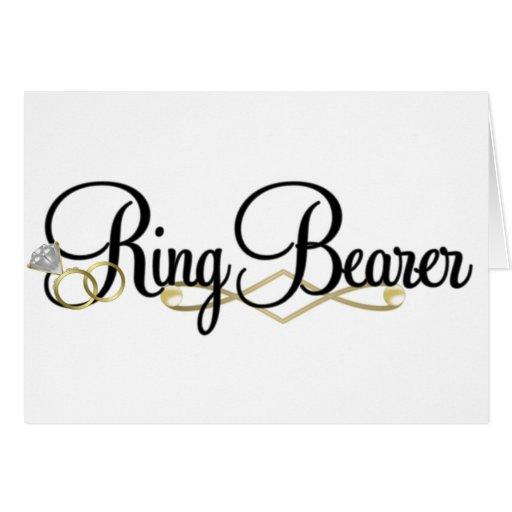 Portador de anillo tarjeta de felicitación