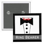 Portador de anillo - Tux conocido de encargo que c Pin