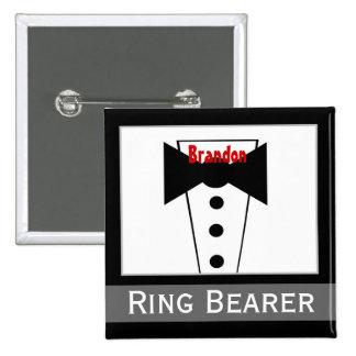 Portador de anillo - Tux conocido de encargo que Pin