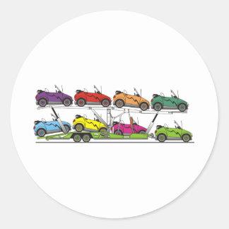 Portador de coche de Eco Pegatina Redonda