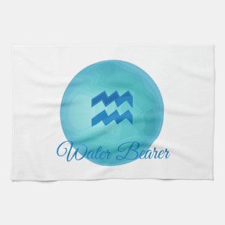 Portador del agua toalla de mano