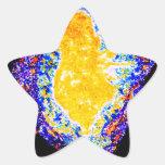 Portador ligero 2012 pegatina en forma de estrella