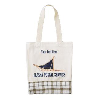 Portador postal del trineo del perro de Alaska Bolsa Tote Zazzle HEART