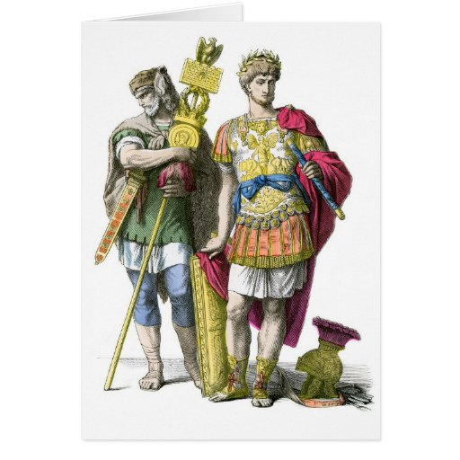 Portador y general estándar romanos antiguos tarjeta de felicitación