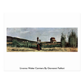 Portadores de agua de Livorno de Giovanni Fattori Tarjetas Postales