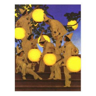 Portadores de la linterna de Maxfield Parrish Postales