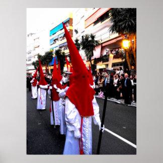 Portadores de la vela, desfile de Domingo de Ramos Impresiones