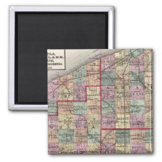 Portage and Trumbull Counties 2 Inch Square Magnet